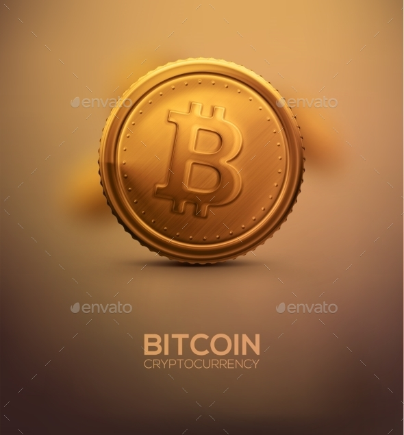 GraphicRiver Gold Bitcoin 10378872