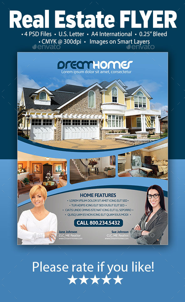 GraphicRiver Real Estate Flyer 9870691