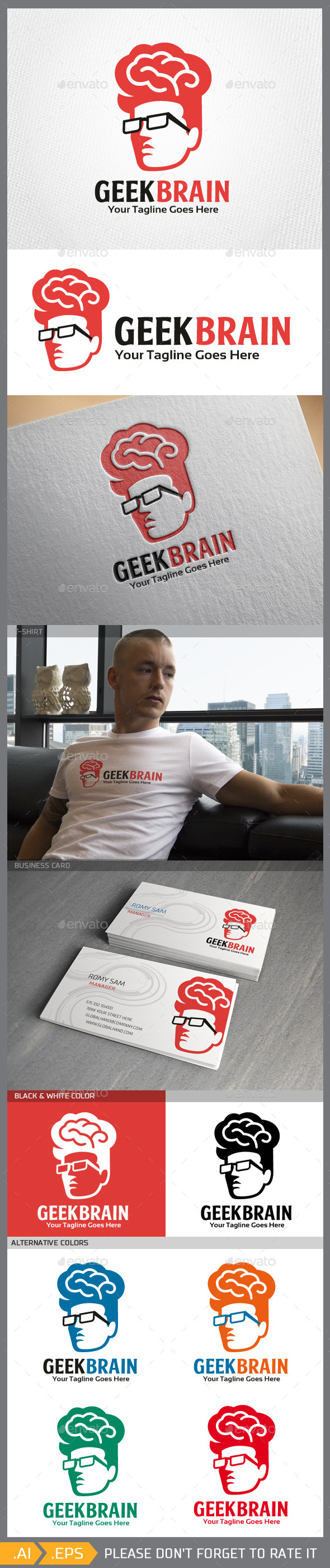GraphicRiver Geekbrain Logo Template 10379018