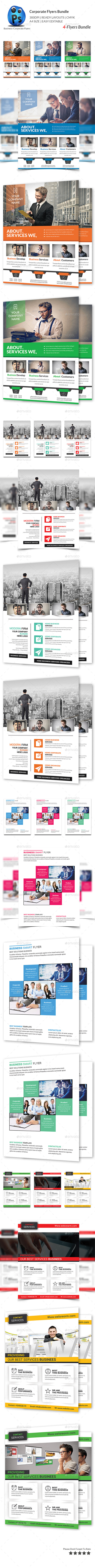 GraphicRiver Corporate Business 4 Flyer Bundle 10379074