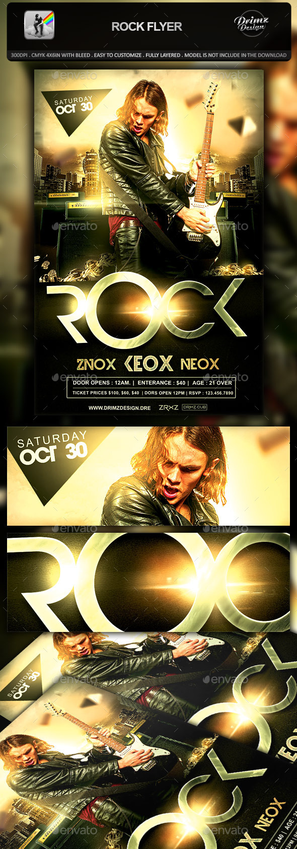 GraphicRiver Rock Flyer 10379114