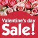 Rose Valentine's day Sale Banners - GraphicRiver Item for Sale