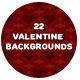 22 Valentine backgrounds - GraphicRiver Item for Sale