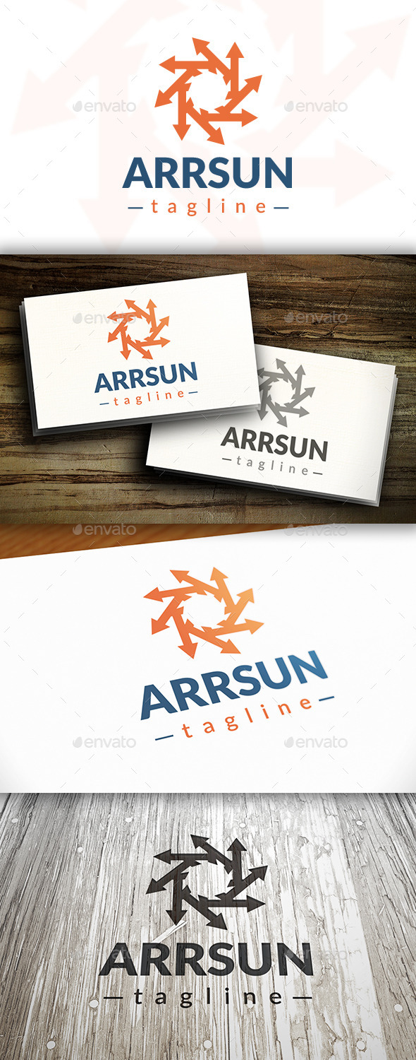 GraphicRiver Sun Arrow Logo 10379416