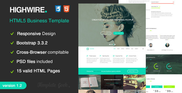 Highwire - HTML5 Responsive Business Template