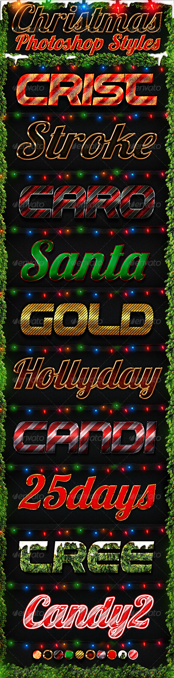 Magical Christmas Text Effects And Photoshop Styles Entheos