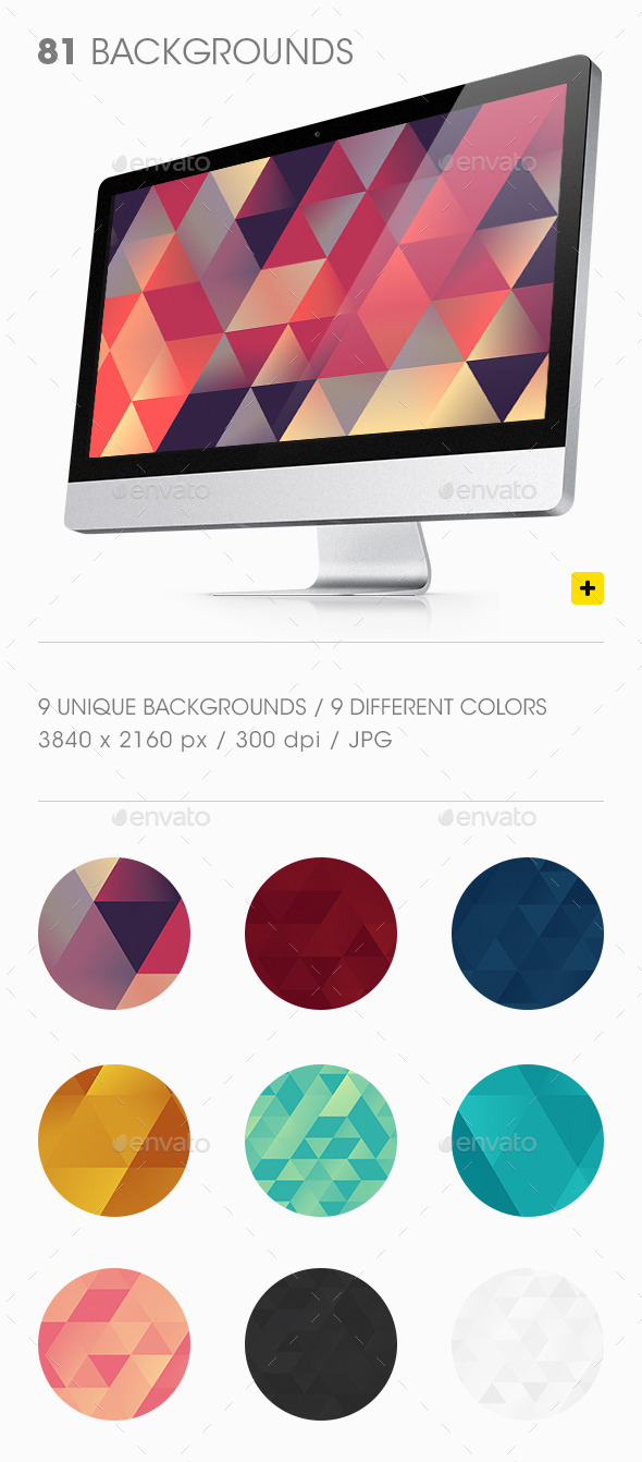 GraphicRiver Triangles Backgrounds 10379608