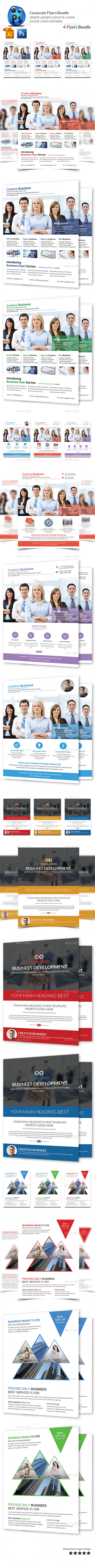 GraphicRiver Corporate Business 4 Flyer Bundle 10379617