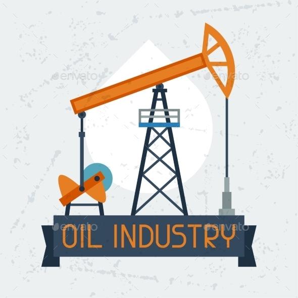 GraphicRiver Oil Pump Jack Background 10379747