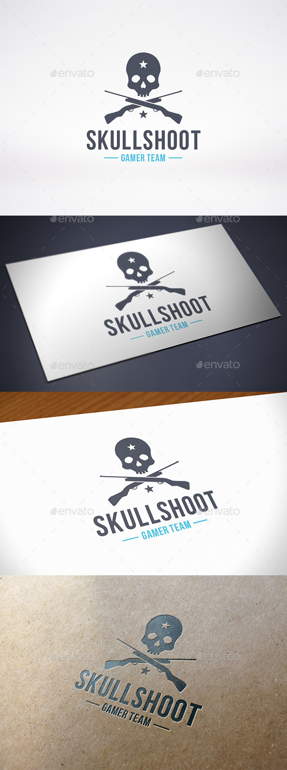 GraphicRiver Shooter Game Team Logo Template 10379756