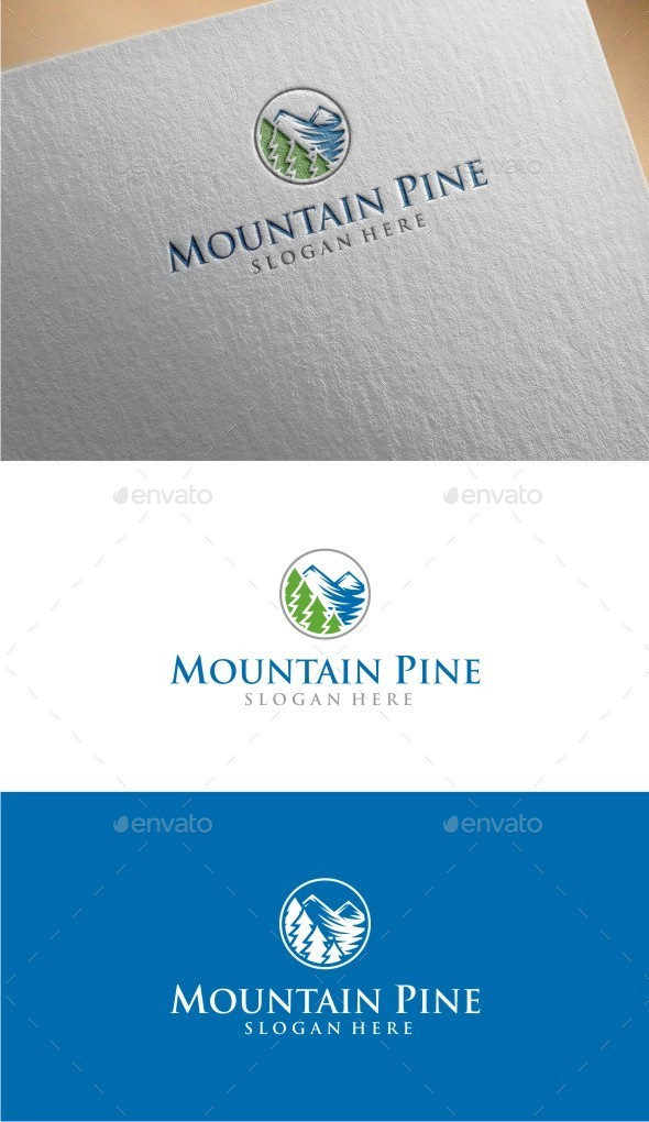 GraphicRiver Mountain Pine Logo Template 10379895