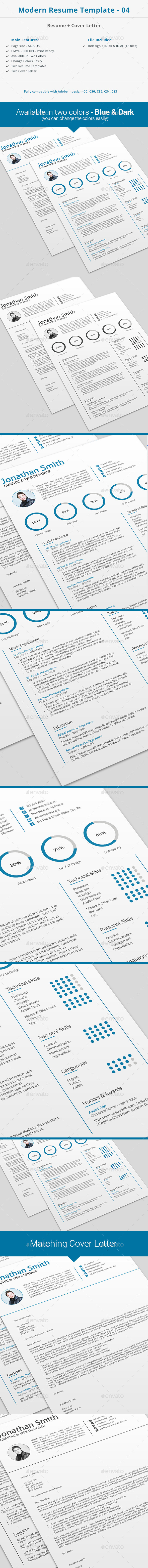 GraphicRiver Modern Resume Template 04 10379916