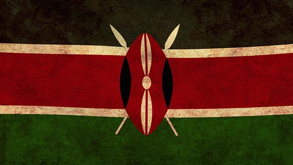 Kenya Flag 2 Pack Grunge and Retro