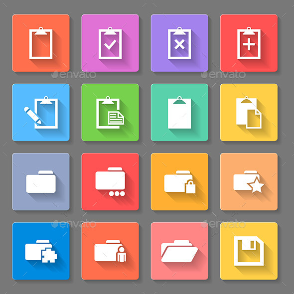 GraphicRiver Flat Icons 10379951