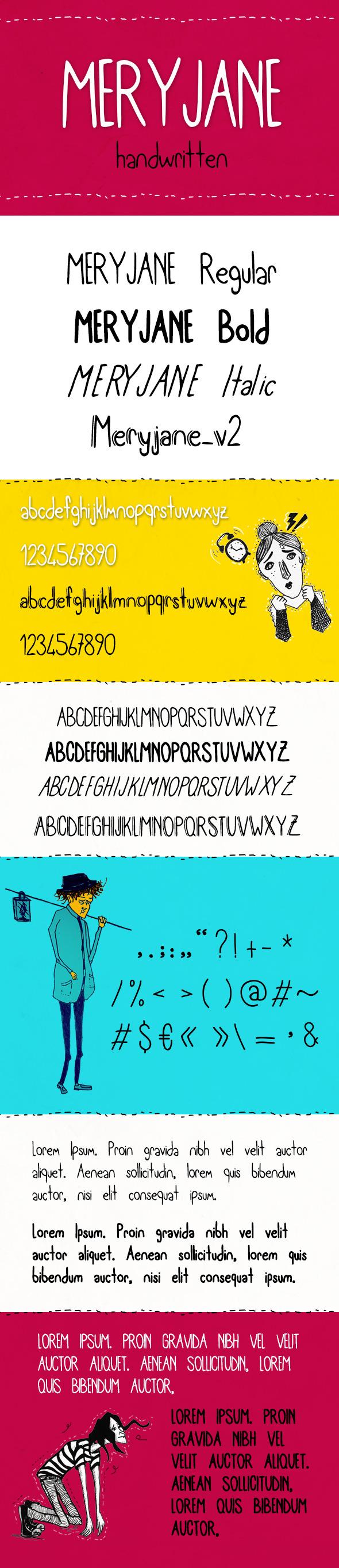 GraphicRiver Meryjane Handwritten Typeface 10268038