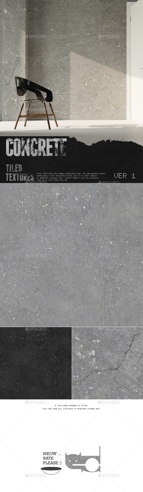 HD Concrete Surface 1 - 3DOcean Item for Sale