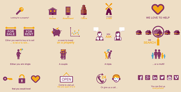 BOUNCING FLAT ICON PACK & STORY