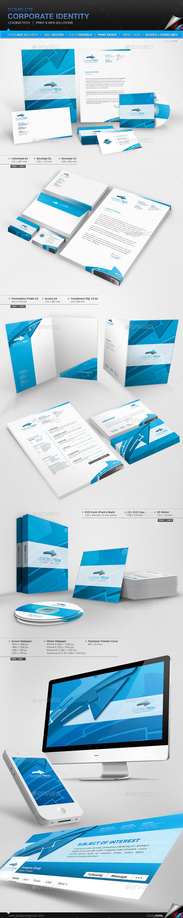 GraphicRiver Corporate Identity Leading Tech 10380215