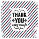 Thank You Card on Tricolor Grunge Background. - GraphicRiver Item for Sale