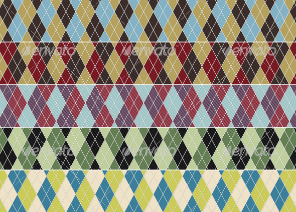 Argyle Swatches - Artistic Textures / Fills / Patterns