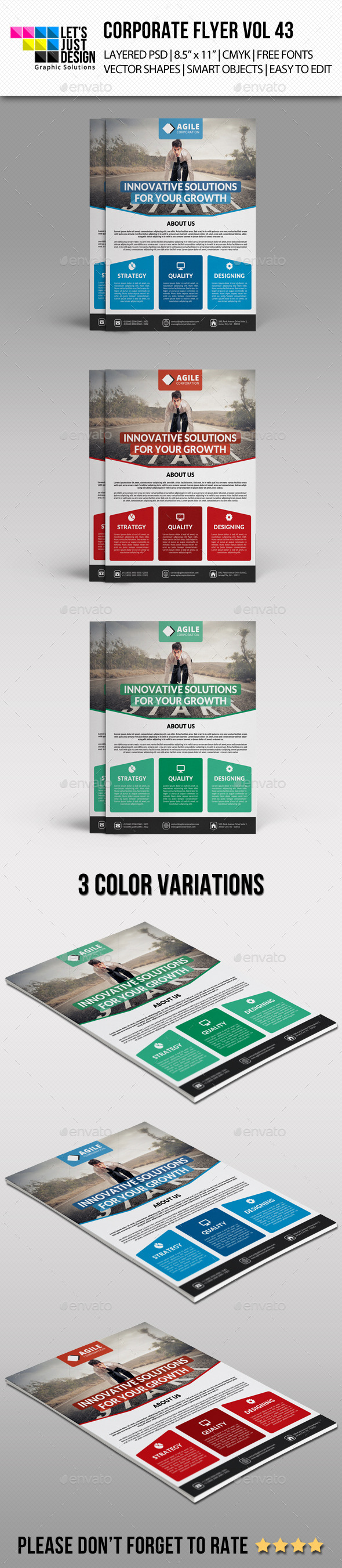 GraphicRiver Corporate Flyer Template Vol 43 10381616