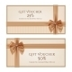 Gift Voucher Template with Golden Ribbon - GraphicRiver Item for Sale