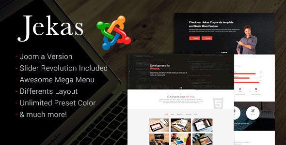ThemeForest Jekas Responsive Multipurpose Joomla Template 10278460
