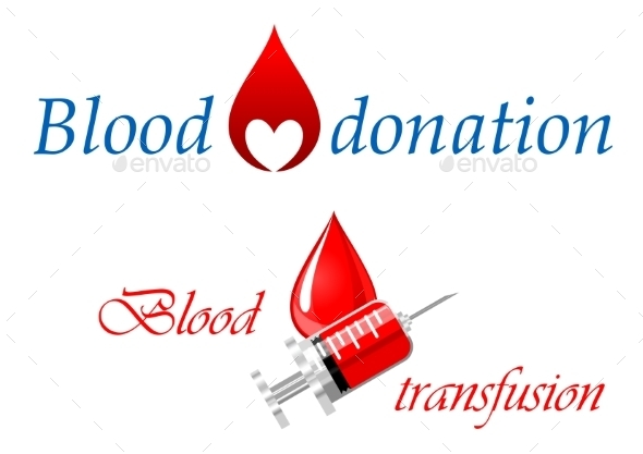GraphicRiver Blood Donation and Blood Transfusion Symbols 10382424