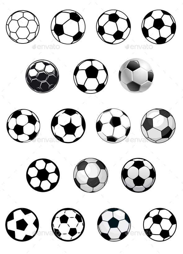 GraphicRiver Soccer Balls or Footballs 10382499