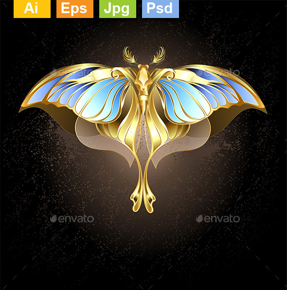 GraphicRiver Golden Butterfly 10382503