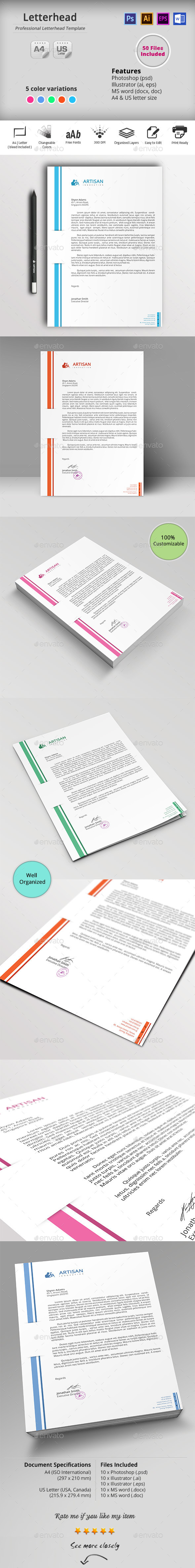 GraphicRiver Letterhead 10382548