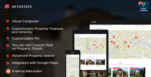 Download Skyestate - 5 Layouts Real Estate Wordpress Theme Wordpress Free
