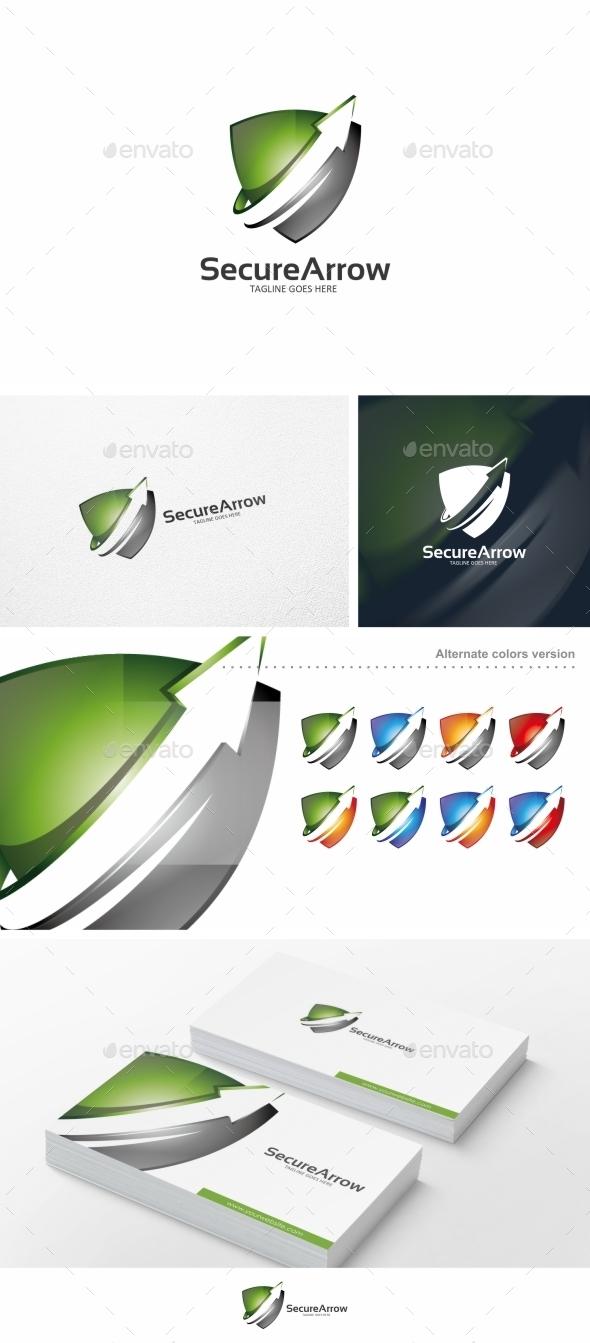 GraphicRiver Secure Arrow Logo Template 10382642