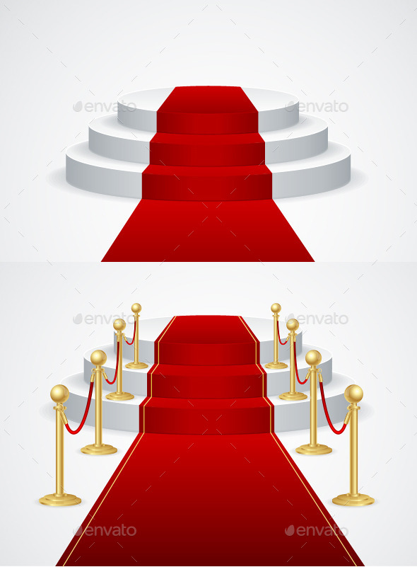 GraphicRiver Podium with Red Carpet 10382713