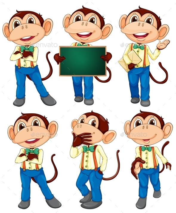 GraphicRiver Monkey Set 10382812