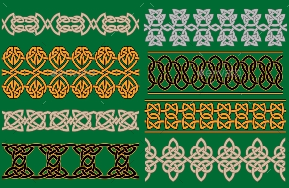 GraphicRiver Celtic Linear Borders and Ornaments 10382832