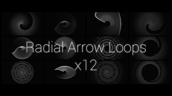 Radial Arrow Patterns Package