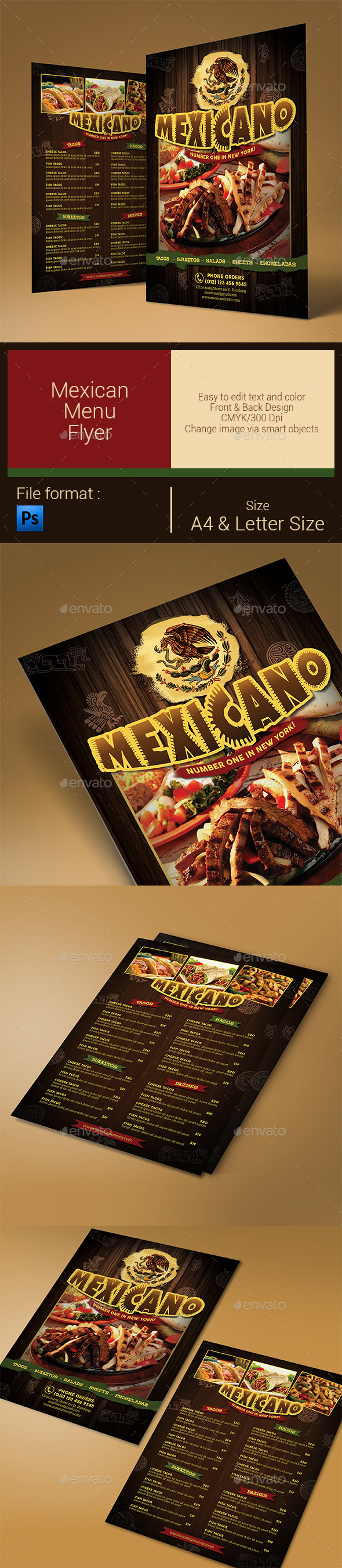 GraphicRiver Mexican Food Menu 10383012