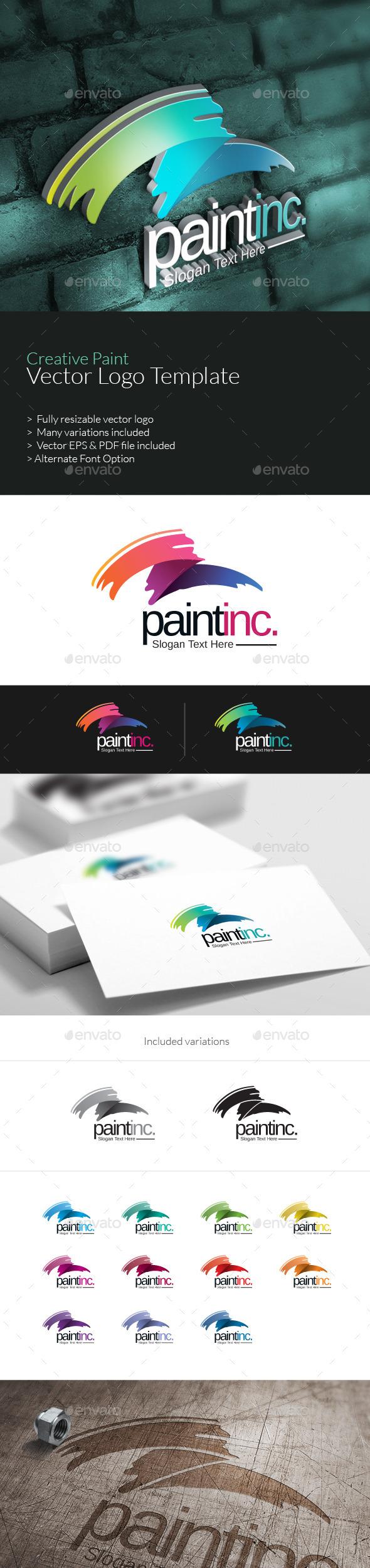 GraphicRiver Creative Paint Logo 10383422