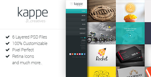ThemeForest Kappe Creative Full Screen Joomla Template 10384150
