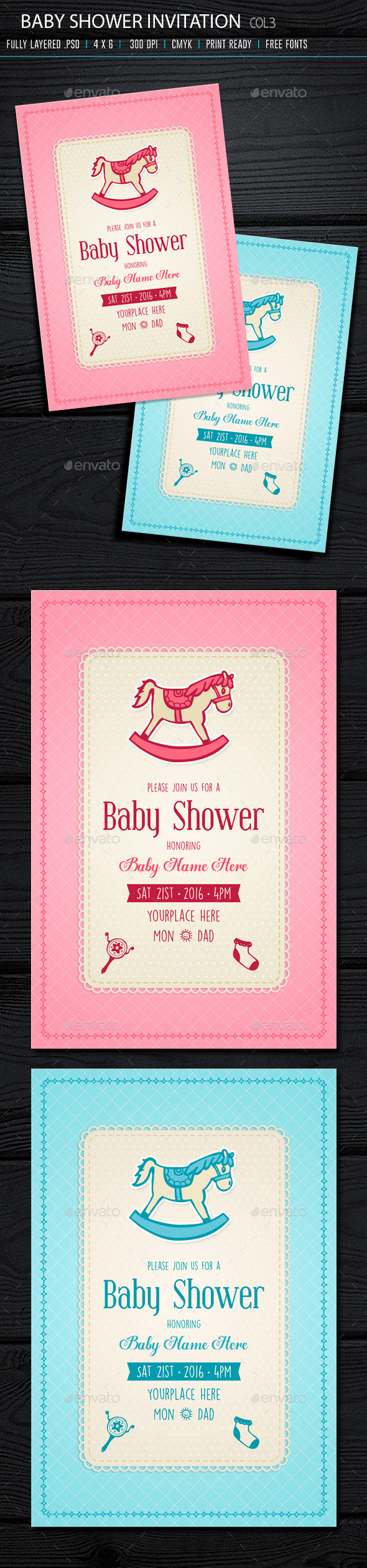 GraphicRiver Baby Shower Invitation 3 10384374