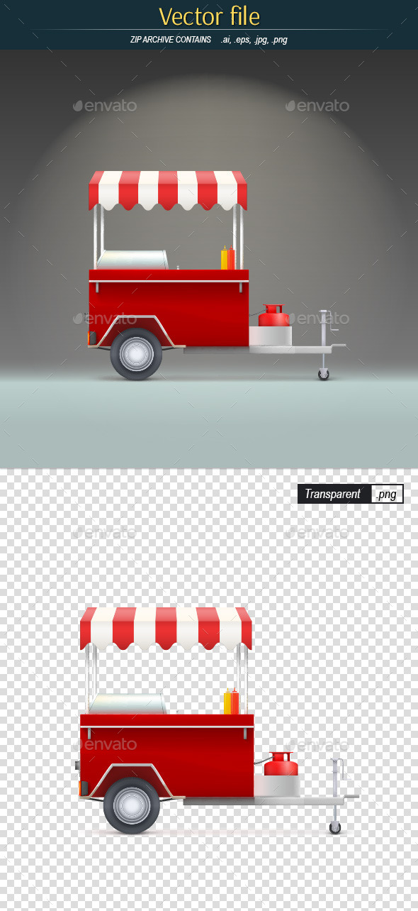 GraphicRiver Fast Food Trolley 10384436