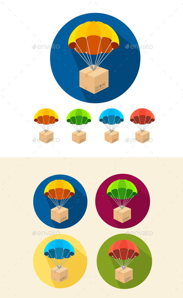GraphicRiver Parachutes Icons Set 10384504