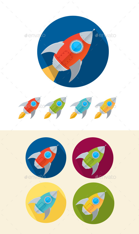 GraphicRiver Rocket Icons Set 10384520