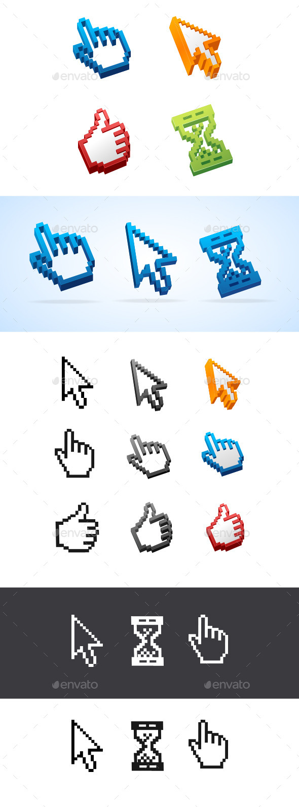 GraphicRiver Cursors Set 10385352