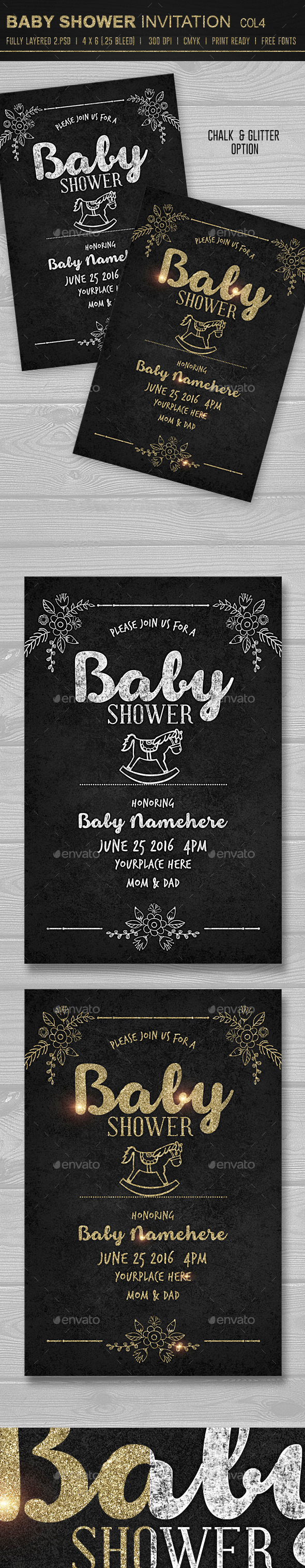 GraphicRiver Baby Shower Invitation 4 10386764