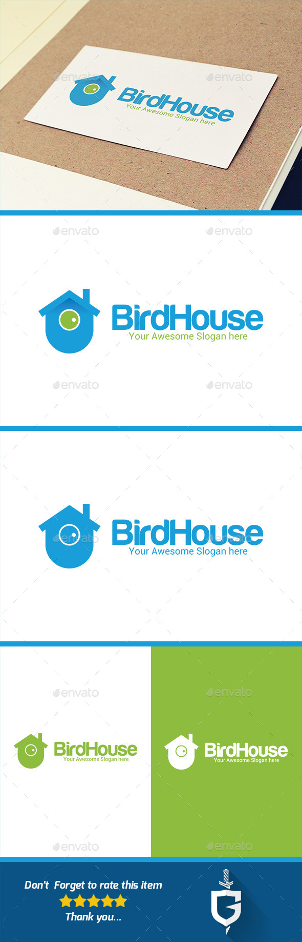 GraphicRiver Bird House Logo Template 10387583