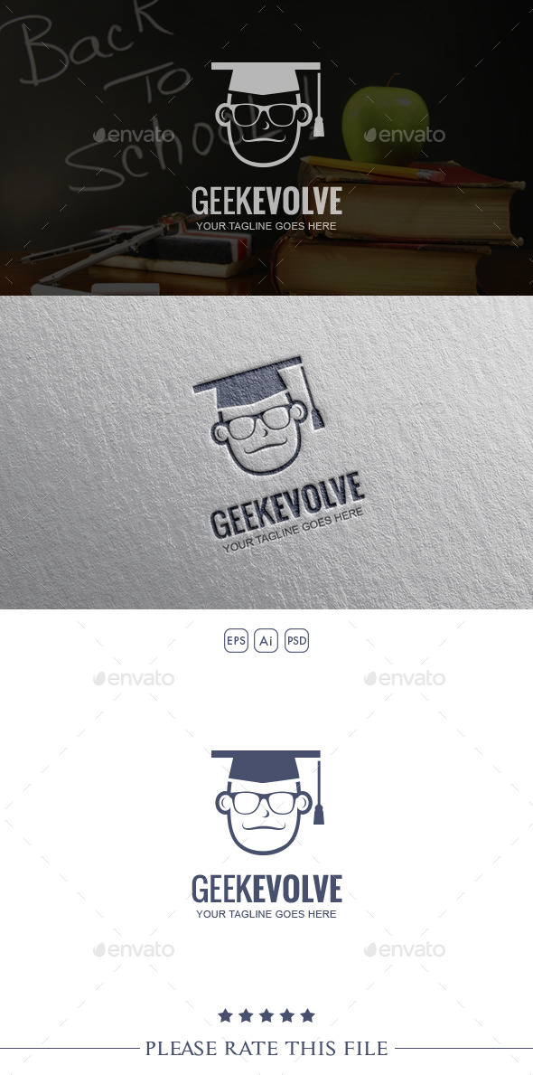 GraphicRiver Geek Logo 10387992
