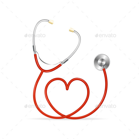 GraphicRiver Red Stethoscope 10388828