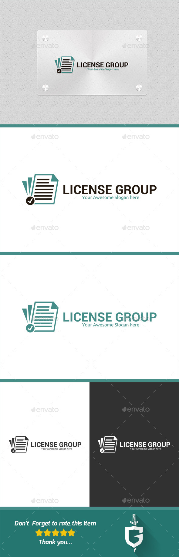 GraphicRiver License Group Logo Template 10389101